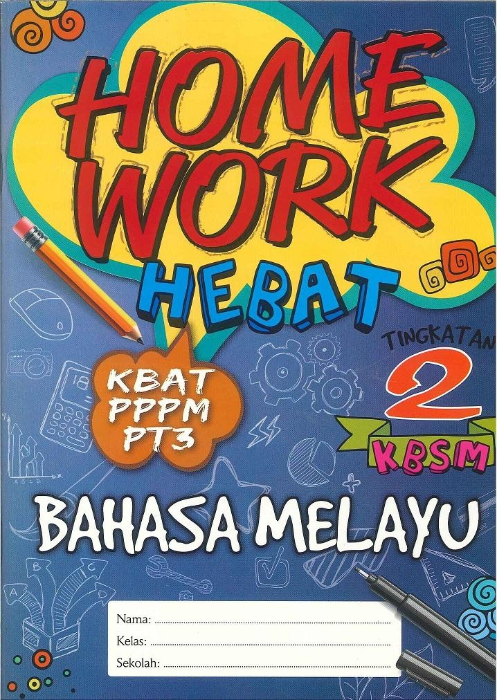 set buku latihan homework hebat bahasa melayu sains english matematik tingkatan