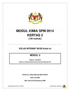 Nota Padat Kimia Spm Yang Baik Modul 5 Kimia Spm 2014