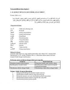 Nota Pendidikan islam Tingkatan 3 Yang Bermanfaat 82419655 Nota Pendidikan islam Tingkatan 1