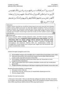 Nota Pendidikan islam Tingkatan 3 Yang Sangat Bernilai Tingkatan 4 Tilawah Al Quran Manusia Perlu Bersyukur