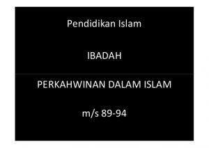 Nota Pendidikan islam Tingkatan 3 Yang Sangat Hebat Pendidikan islam Tingkatan 5 Perkahwinan Dalam islam