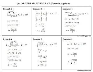 Soalan Latihan Matematik Tingkatan 4 Penting 9 formula Algebra Algebraic formulae Chegu Zam
