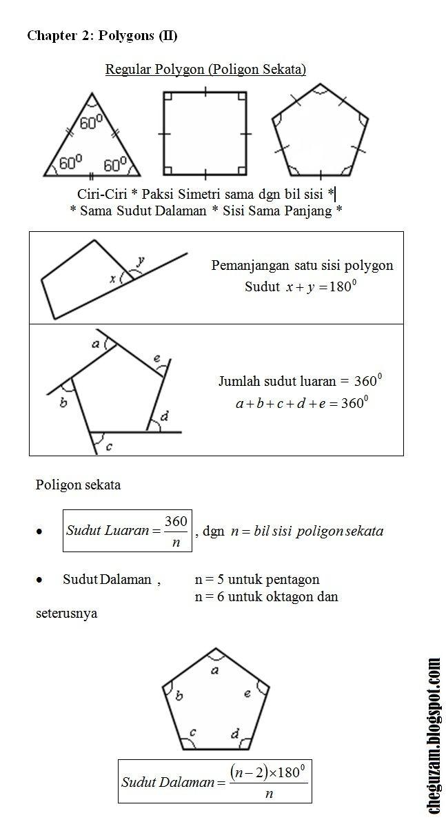 latihan matematik tingkatan 4 bernilai nota matematik tingkatan 3 bab 2 poligon polygons ii chegu zam