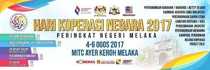 Kuiz Negaraku Meletup Hari Koperasi Negara 2017 Peringkat Negeri Melaka at Dewan A Mitc