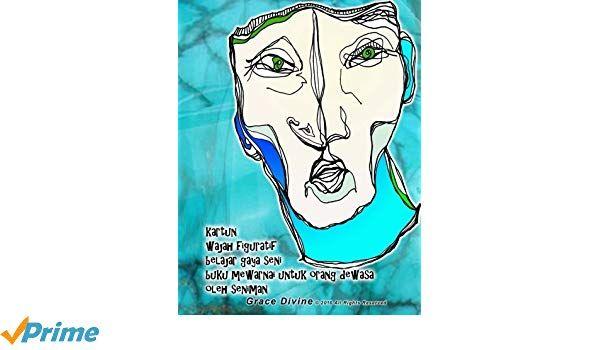 Poster Mewarna Kartun Bermanfaat Kartun Wajah Figuratif Belajar Gaya Seni Buku Mewarnai Untuk orang