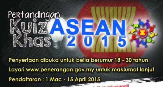 kuiz asean tawarkan hadiah tunai dan gajet tarikh tutup dilanjutkan sehingga 15 april 2015 majlis belia malaysia