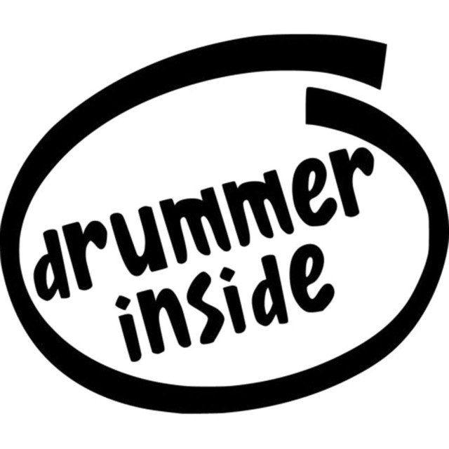 16 9x14 3 cm drummer dalam lucu vinyl decal mobil sticker mobil styling aksesoris