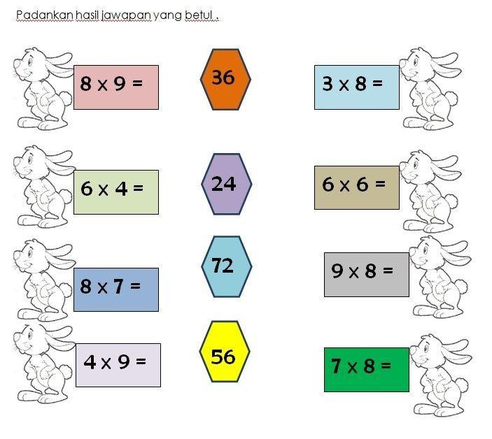 latihan darab matematik kssr tahun 3