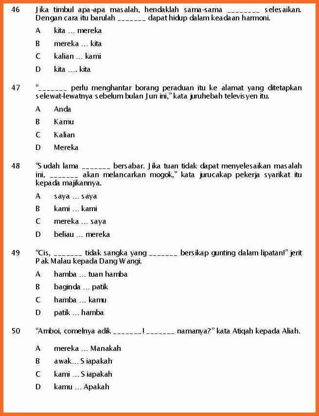 Soalan Pengetahuan Am Tahun 6 Selangor S