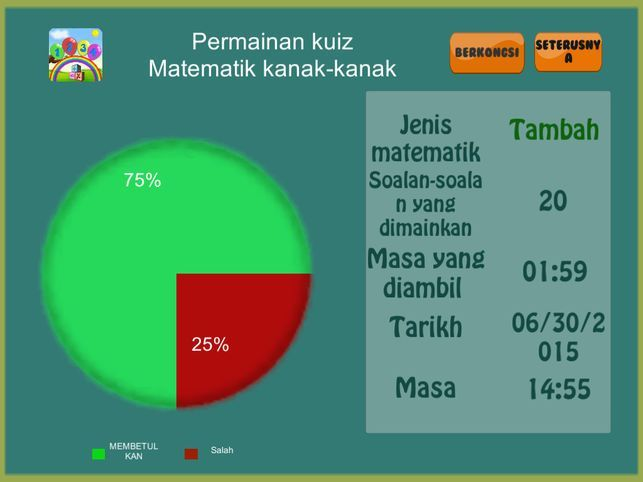 kids math quiz test analyze and improve your math skills di app store