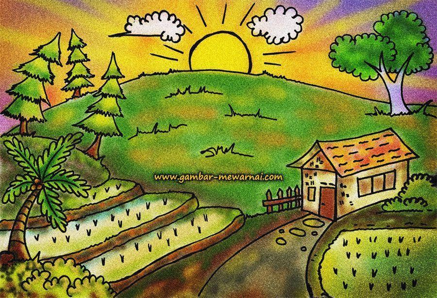 Himpunan Terbesar Lukisan Mewarna Pemandangan Yang Terhebat Dan Boleh Di Lihat Dengan Cepat Contoh Resume Cover Letter Curriculum Vitae Terbaik