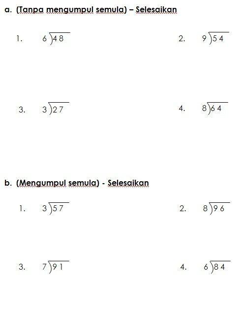 latihan bahasa melayu tahun 4 berguna latihan bahagi matematik kssr tahun 3 worksheet pinterest