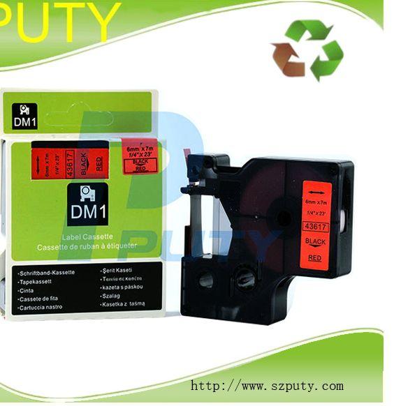 dymo dymo d1 label pita 6mm hitam pada merah 43617 untuk dymo labelmanager printer