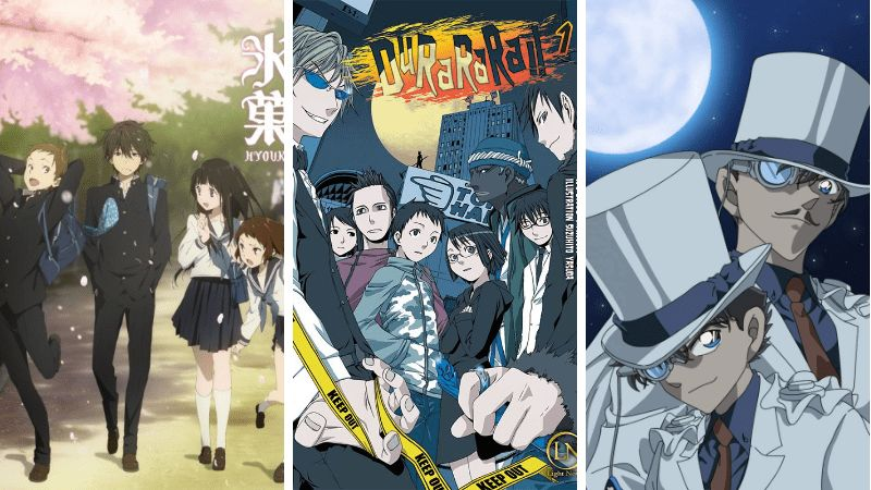 manakah anime dengan tema teka teki yang kamu sukai