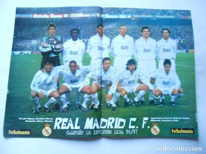 r madrid poster campea n invierno en revista futbolmana a nao 11 marzo 1997 30x42 foto revista