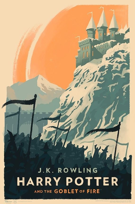 harry potter and the goblet of fire poster by olly moss