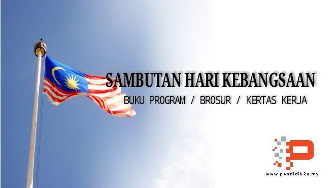 buku program dan brosur sambutan hari kebangsaan