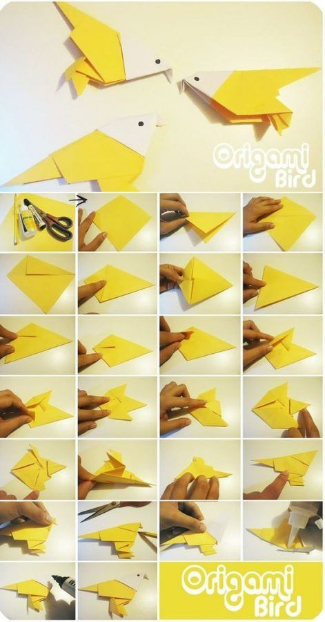 origami burung kenari