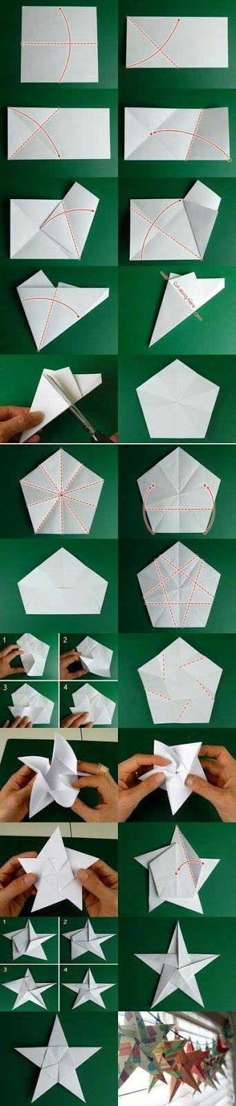 seni melipat kertas origami cara melipat menjadi kertas bintang