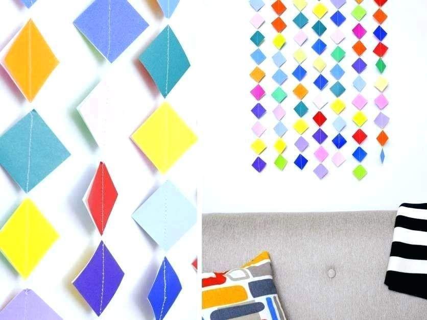 hiasan dinding dari kertas paling utama origami gaya dinding ceria