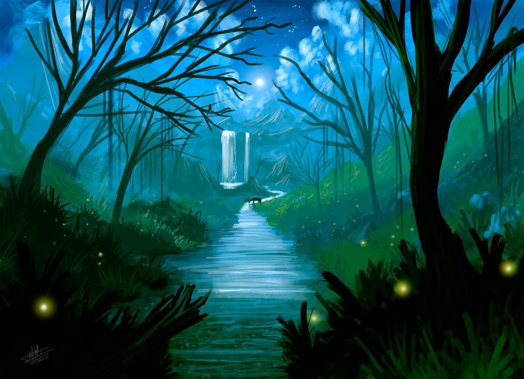 lukisan kertas 2 spm berguna psv kertas 2 spm pemandangan sungai di dalam hutan