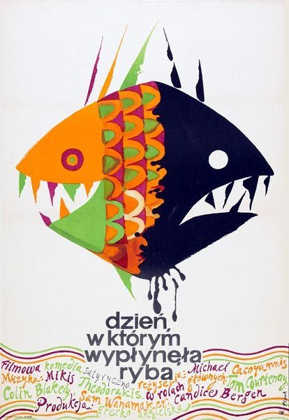jerzy flisak the day the fish came out 1968 polish movie posters polish