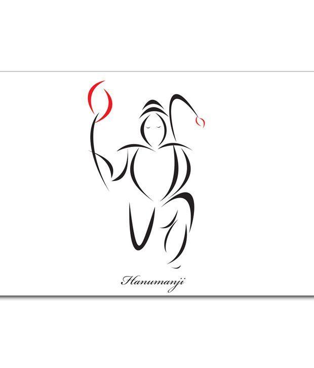 shopmantra hanuman ji minimal design laminated poster buy shopmantra hanuman ji minimal design laminated poster at best price in india on snapdeal