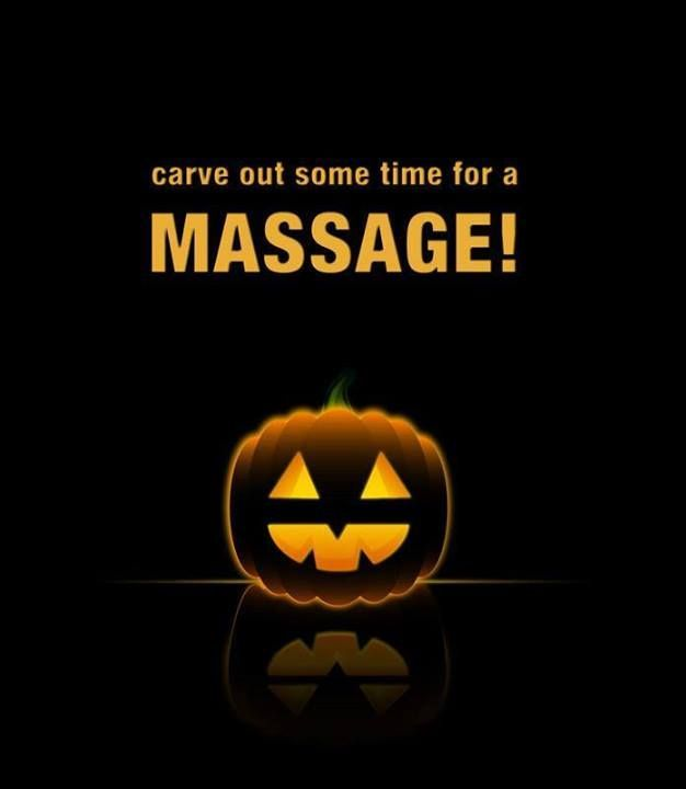 Spa Poster Terbaik Happy Halloween Carve Out some Time for A Massage at Inis Spa