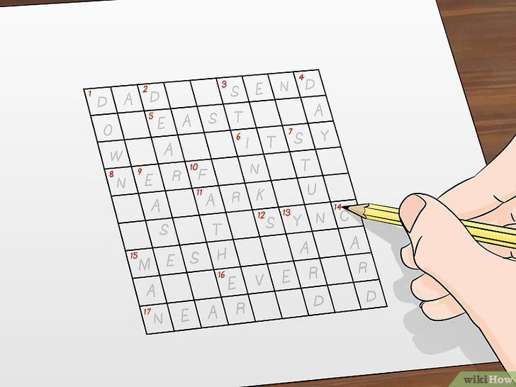 gambar berjudul make crossword puzzles step 4 imej cara membuat teka teki silang