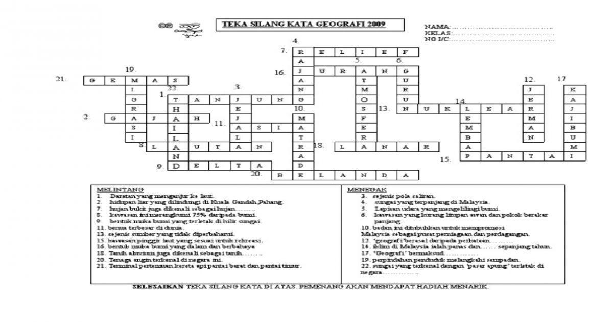 teka silang kata dan jawapan baik jawapan teka silang kata jawapan of pelbagai teka silang kata