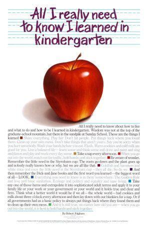 all i really need to know i learned in kindergarten miss kindergarten kindergarten posters