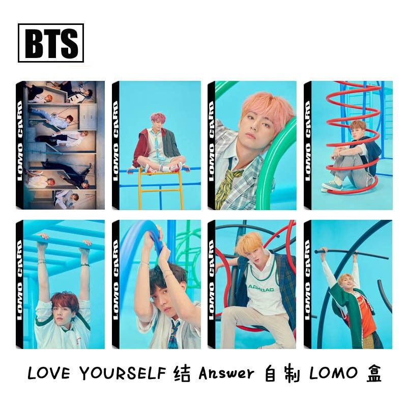 bts 8pcs lomo card love yourself c answer shopee malaysia