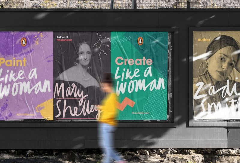 fieldwork designs like a woman campaign for penguin s celebration of female writers creative boom