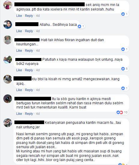 netizen juga bersetuju yang harga makanan di kantin sekolah cekik darah atau sama dengan harga di luar sekolah sedangkan makanan tidak sedap