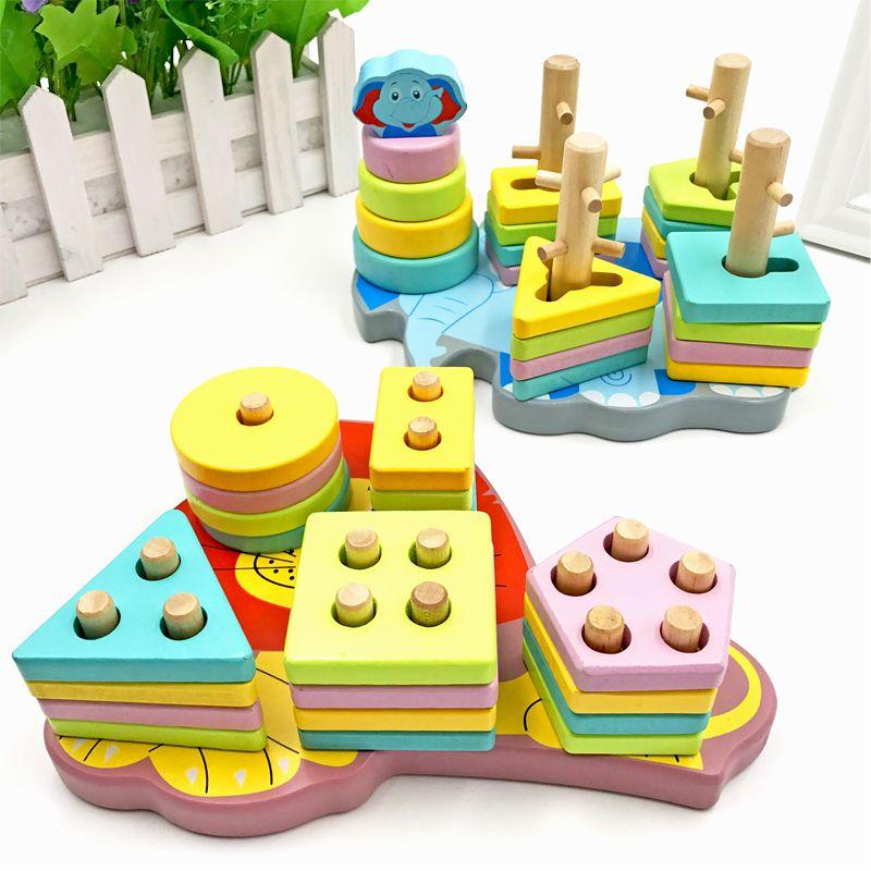 pendidikan awal kanak kanak pendidikan mainan 1 2 3 4 tahun kanak kanak lelaki kecerdasan bangunan blok teka teki perempuan bentuk bayi yang sepadan