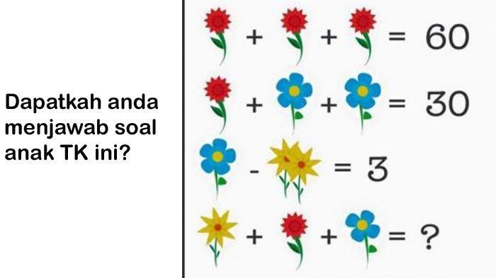 dapatkah anda menjawab teka teki bunga ini seorang guru matematika mengaku menyerah