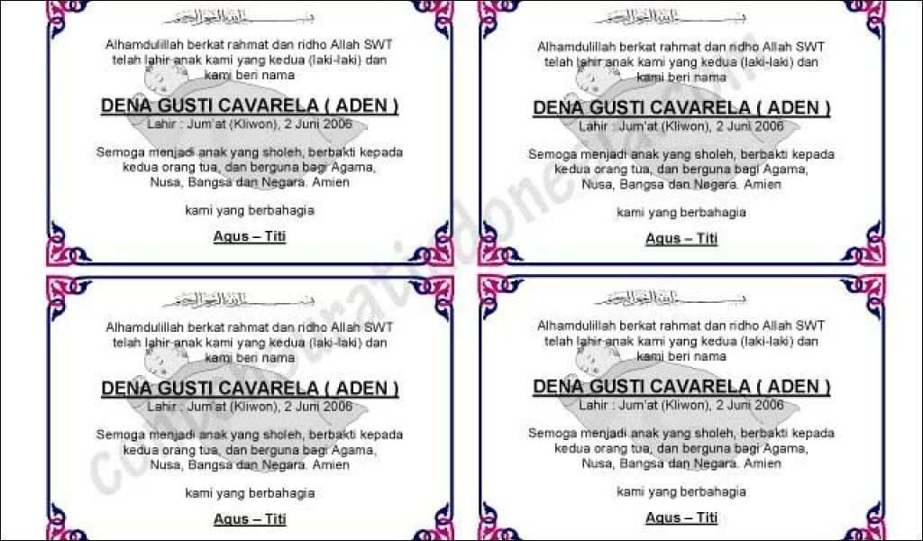 33 koleksi ucapan kelahiran anak islami terbaru