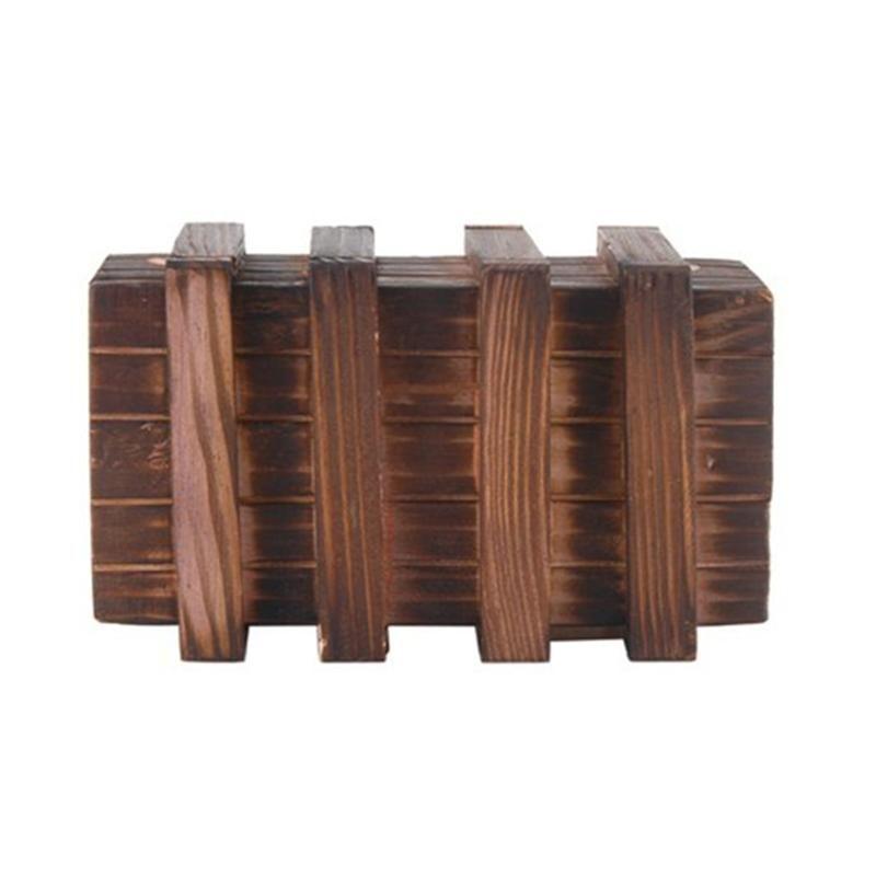 1 xmagic kompartemen kayu kotak teka teki dengan ekstra aman laci rahasia pendidikan mainan anak hadiah bayi mainan anak anak