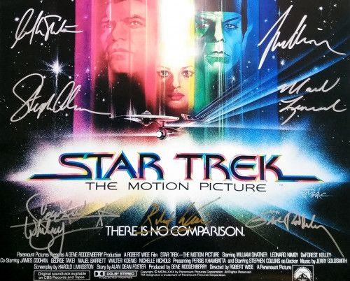 Film Poster Baik Star Trek Movie Poster by 13 Cast Autograph Fully Authentic Modart