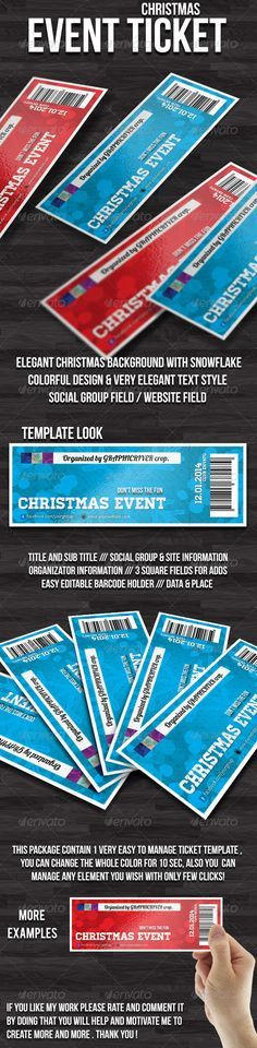 christmas event ticket graphicriver hello this is christmas event ticket template features