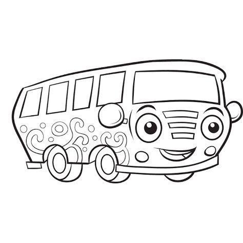 mewarnai gambar mobil van keluarga