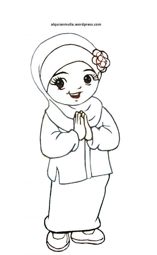 gambar kartun islami galau daftar mewarnai gambar islami untuk anak
