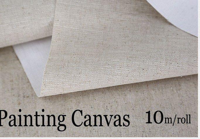 10 m linen campuran prima kanvas kosong untuk artist lukisan lapisan minyak lukisan kanvas gratis pengiriman