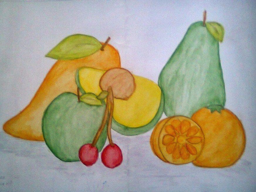 lukisan buah buahan termudah dibuat