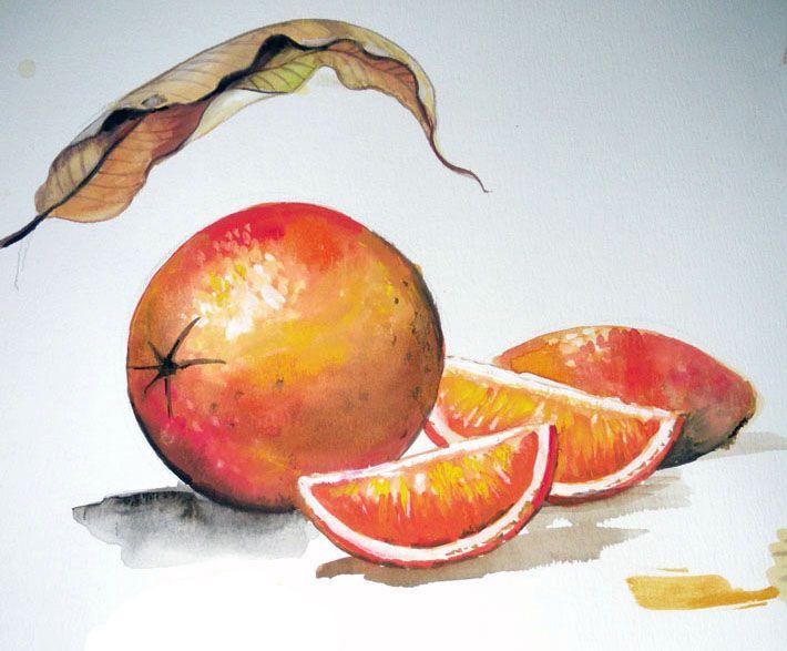 tajuk lukisan buah buahan media cat air