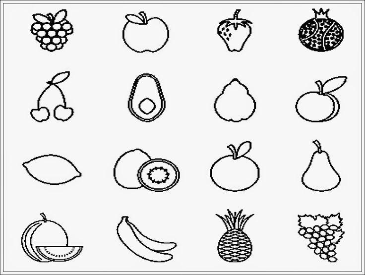 sketsa gambar buah untuk diwarnai mewarnai pinterest education search and image search