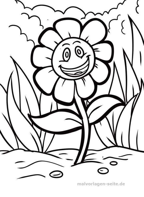gambar bunga mewarna bernilai halaman mewarna ketawa bunga halaman pewarna percuma untuk dimuat