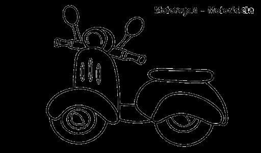 mewarnai gambar sepeda motor vespa