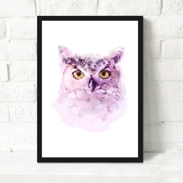 harga cat poster penting kepala hewan burung hantu cat kanvas lukisan modern seni cetak