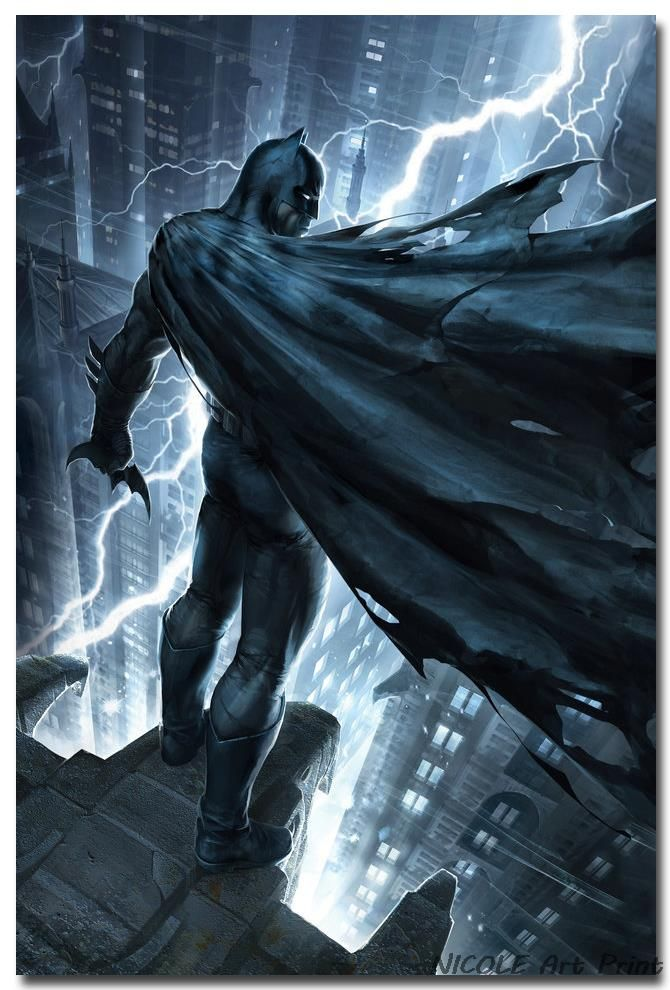 batman superheroes comic anime art silk fabric poster print 12x18 24x36 inches wall picture for home